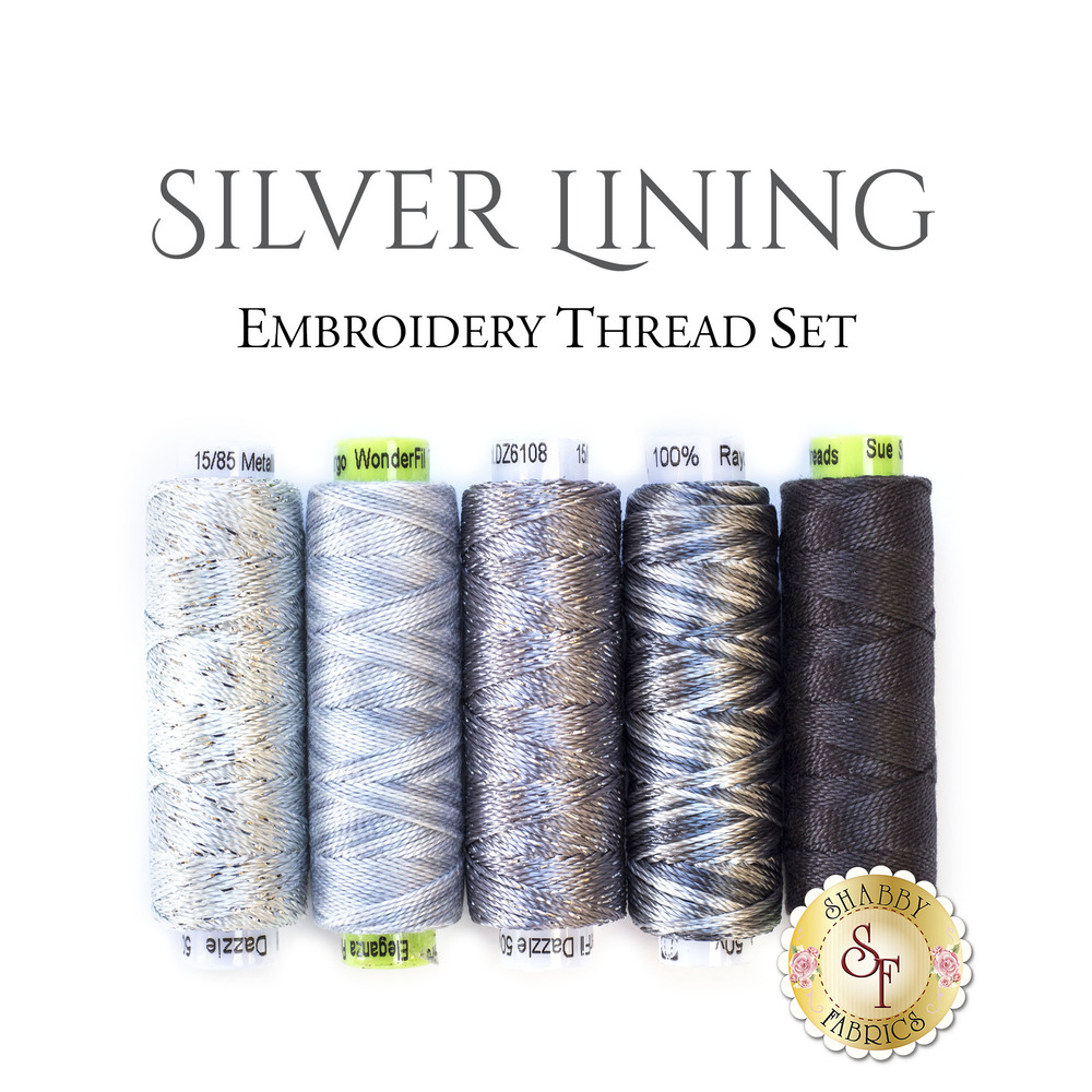 Silver Lining Embroidery Thread Set - 5pc