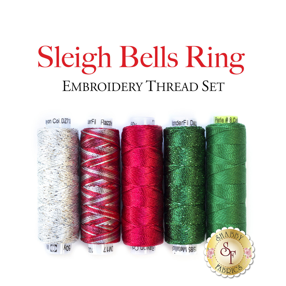 Sleigh Bells Ring Embroidery Thread Set 5pc
