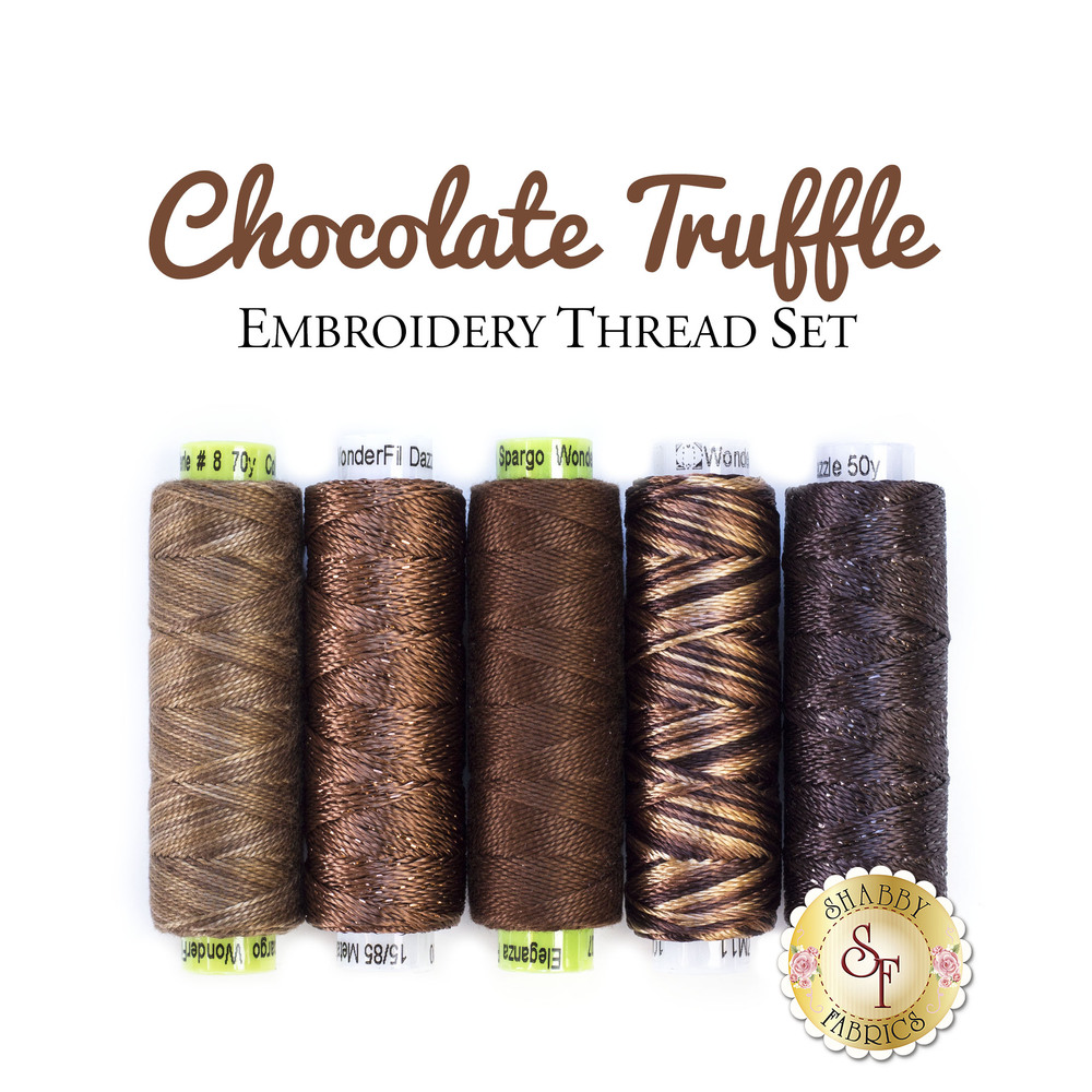 Chocolate Truffle Embroidery Thread Set - 5pc