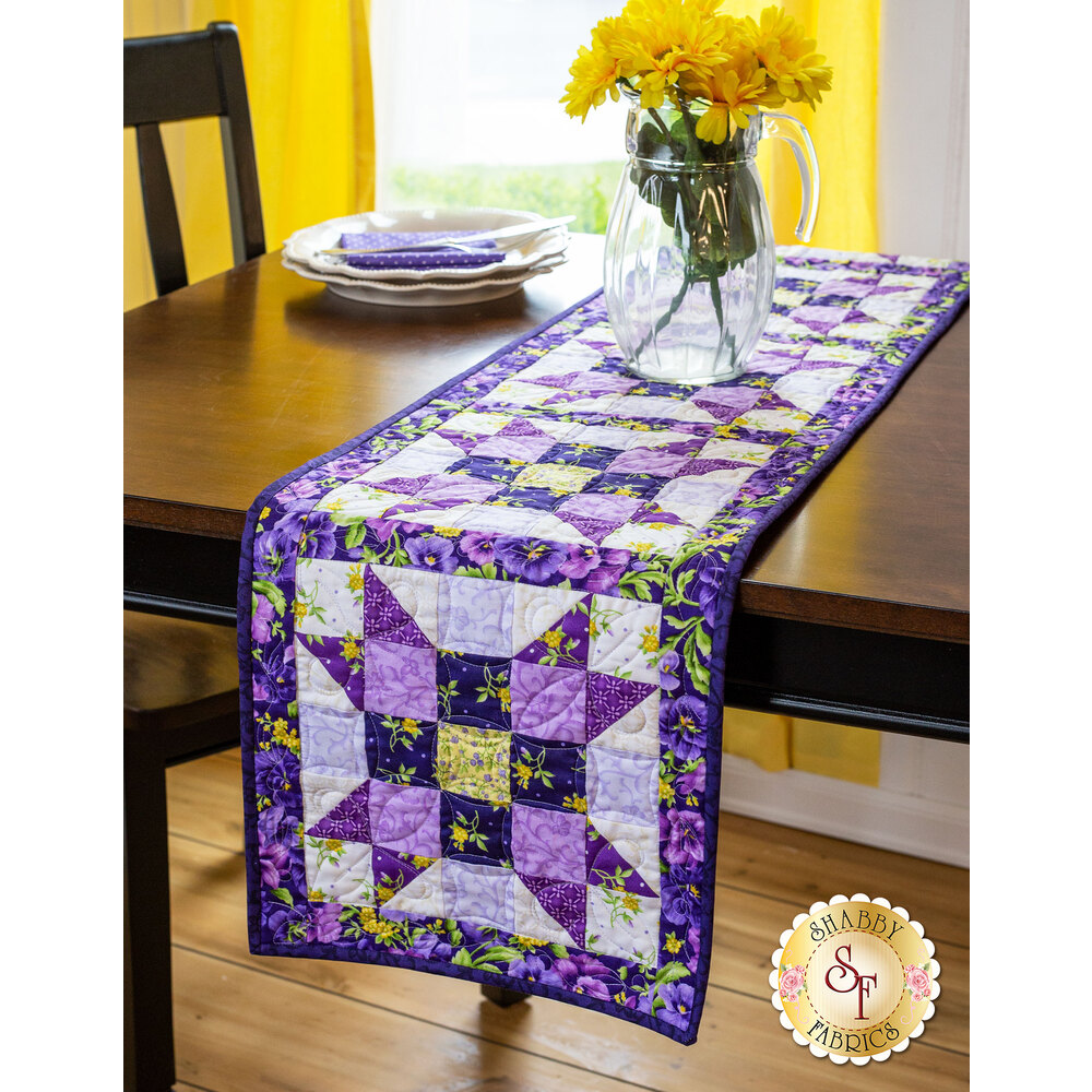 Sister's Choice Table Runner Pre-Cut Kit - Emma's Garden from Maywood Studio