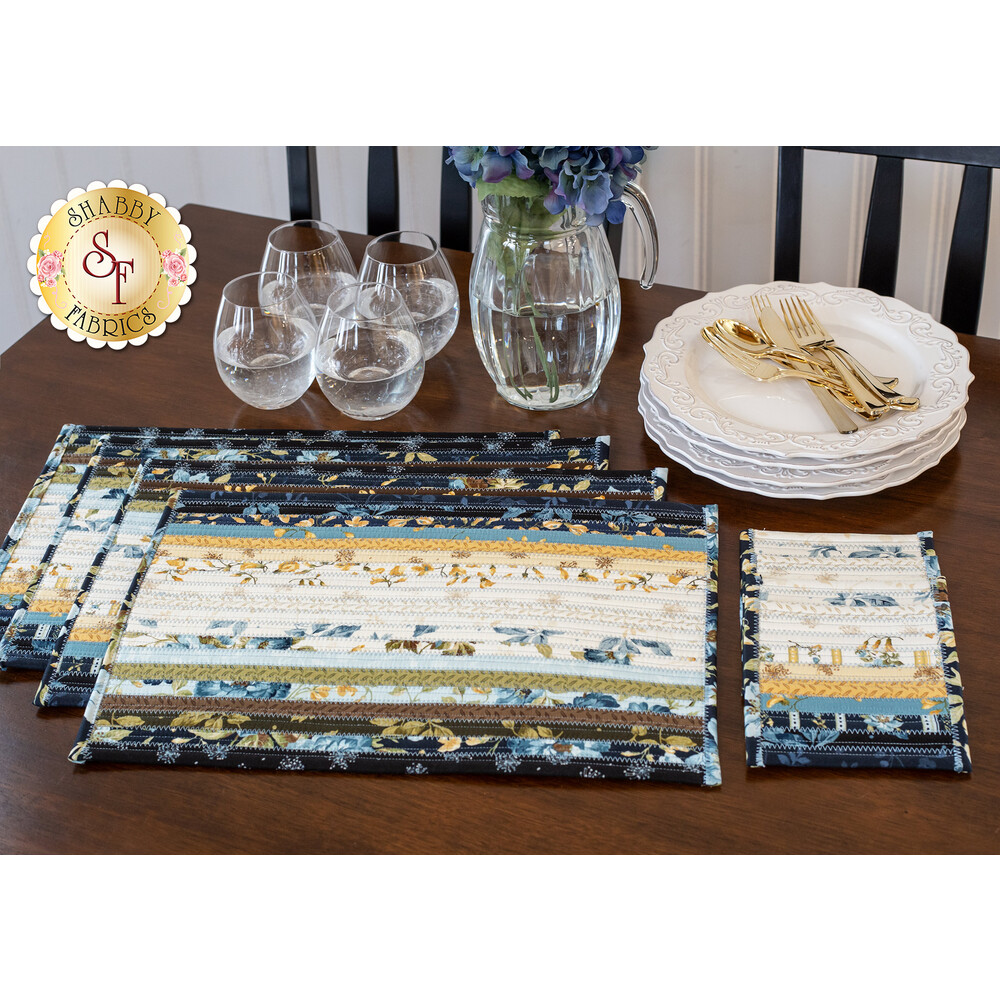 Jelly Roll Placemats Kit - English Countryside - Makes 4