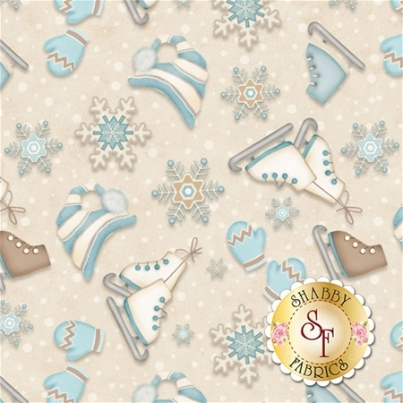 I Still Love Snow F6796-40 by Shelly Comiskey for Henry Glass Fabrics