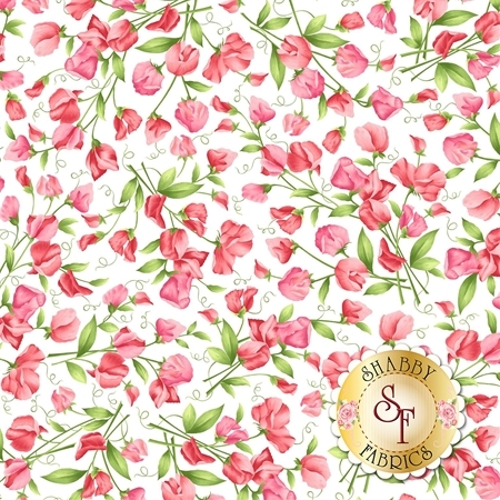 Sweet Pea Flannel F8121-W by Maywood Studio Fabrics