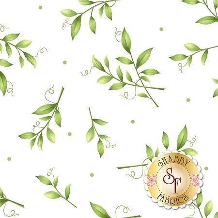 Sweet Pea Flannel F8124-W by Maywood Studio Fabrics