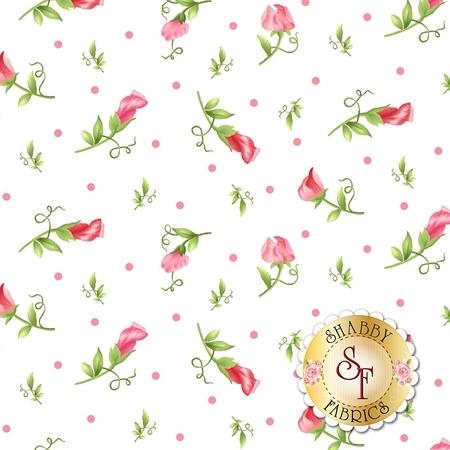 Sweet Pea Flannel F8125-W by Maywood Studio Fabrics