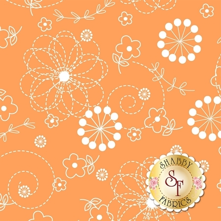 Lil' Sprout Flannel Too F8229-O by Kim Christopherson for Maywood Studio Fabrics