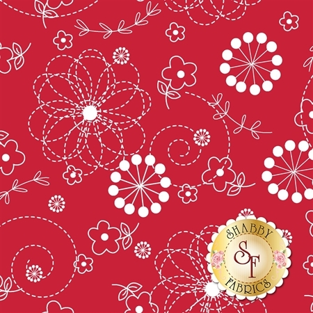Lil' Sprout Flannel Too F8229-R by Kim Christopherson for Maywood Studio Fabrics