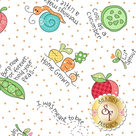 Lil' Sprout Flannel Too F8231-W by Kim Christopherson for Maywood Studio Fabrics