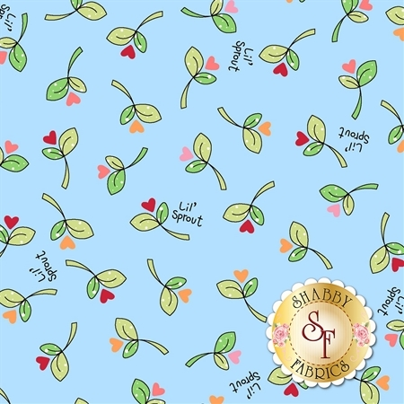 Lil' Sprout Flannel Too F8232-B by Kim Christopherson for Maywood Studio Fabrics