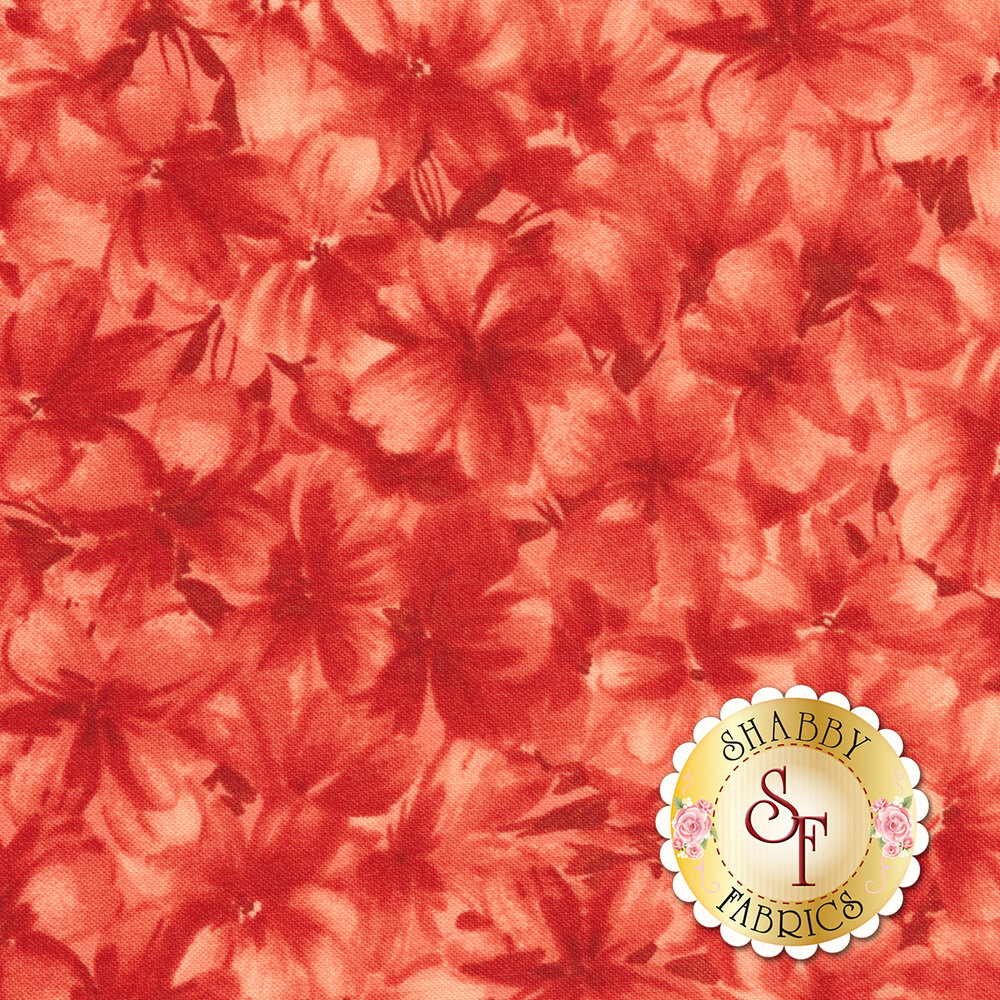 Chloe 9181-R2 Tonal Geraniums Soft Red by Maywood Studio Fabrics