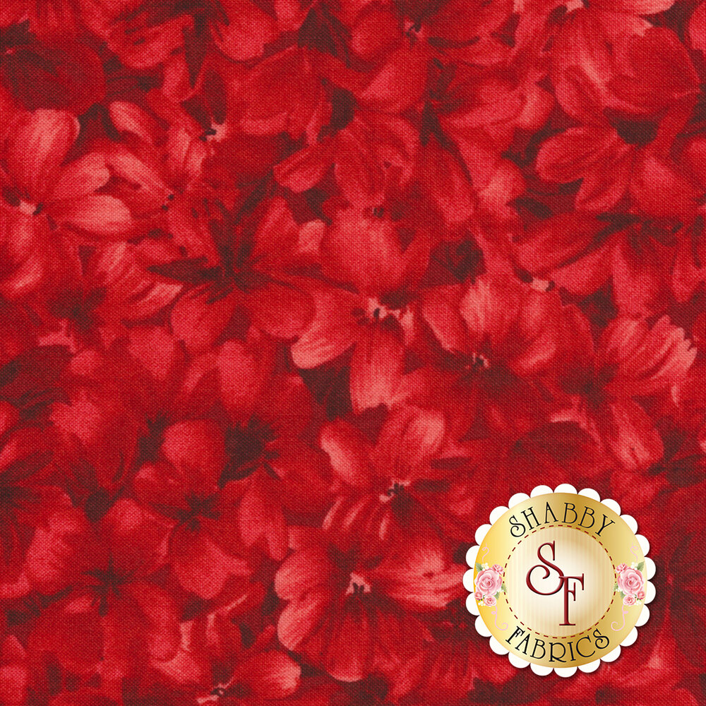 Chloe 9181-R Tonal Geraniums Red by Maywood Studio Fabrics