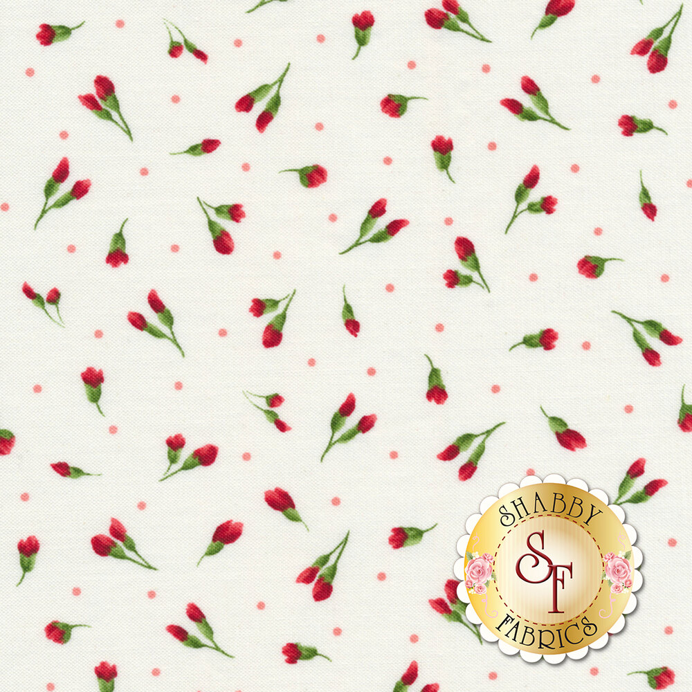 Chloe 9184-W Little Buds White by Maywood Studio Fabrics