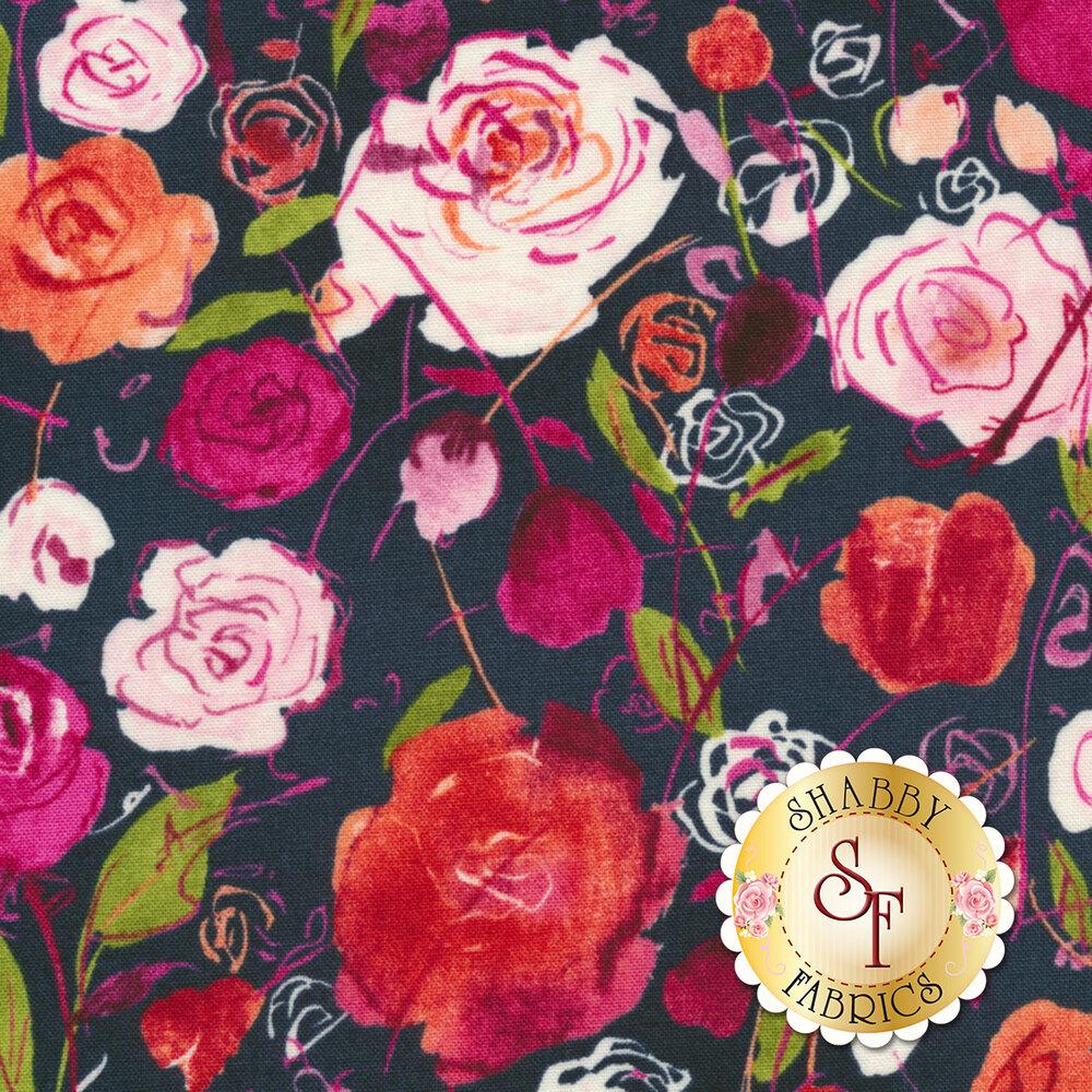 Petal Park 3515-001 Rose Garden Sweet Pea by RJR Fabrics