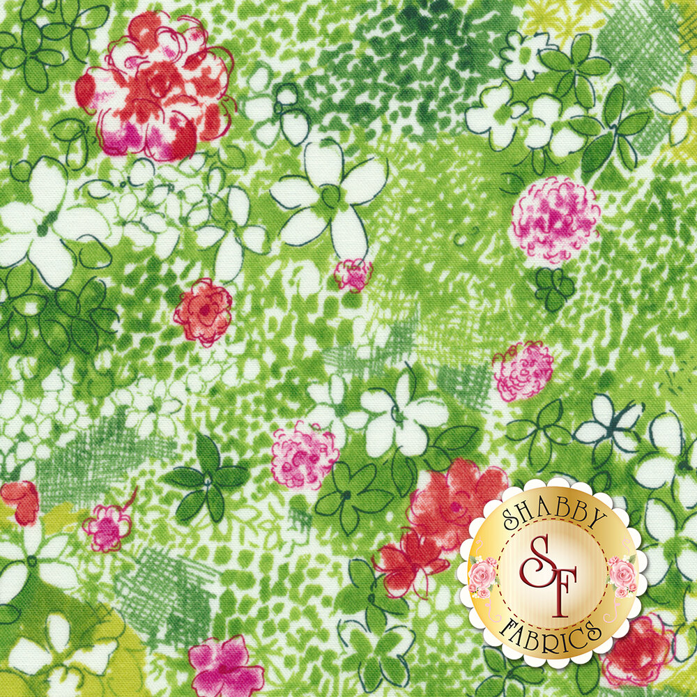 Petal Park 3516-001 Wild Meadow Sweet Pea by RJR Fabrics