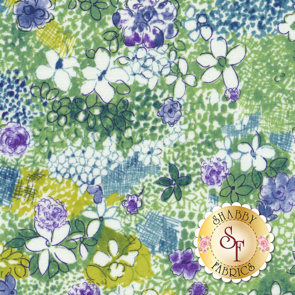 Petal Park 3516-002 Wild Meadow Hydrangea by RJR Fabrics