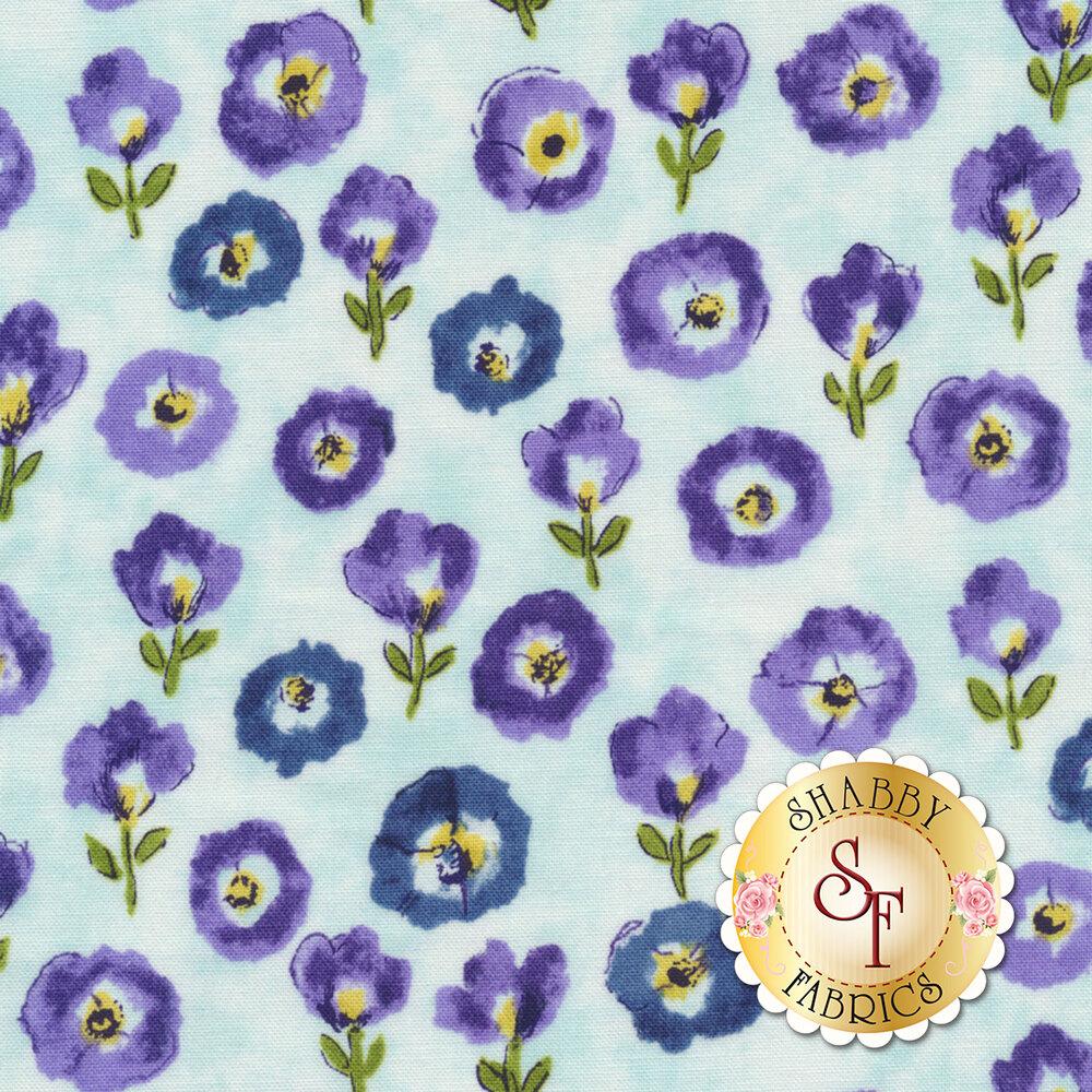Petal Park 3517-002 Fresh Cut Floral Hydrangea by RJR Fabrics