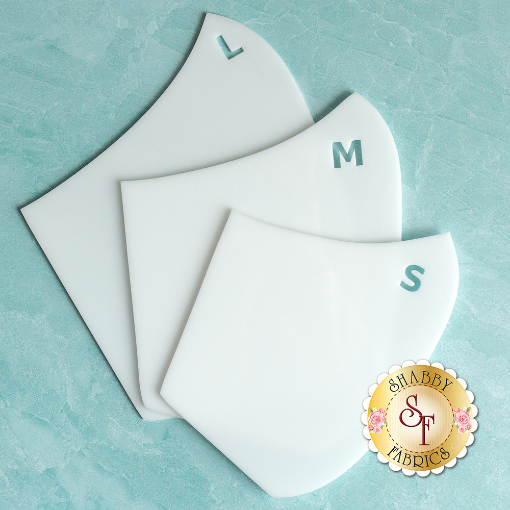 Face Mask Templates - 3 Sizes | Shabby Fabrics