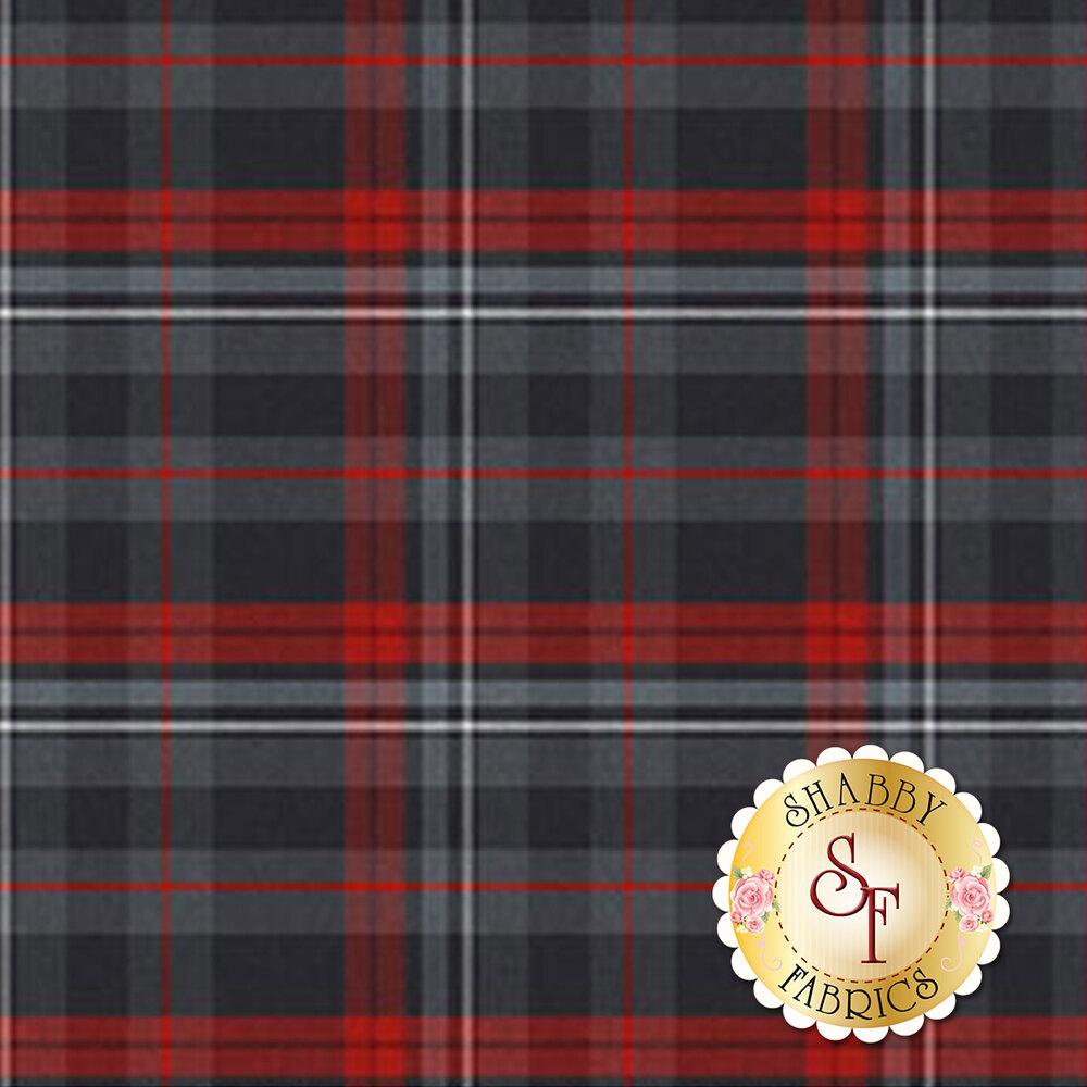 Red and gray plaid | Shabby Fabrics
