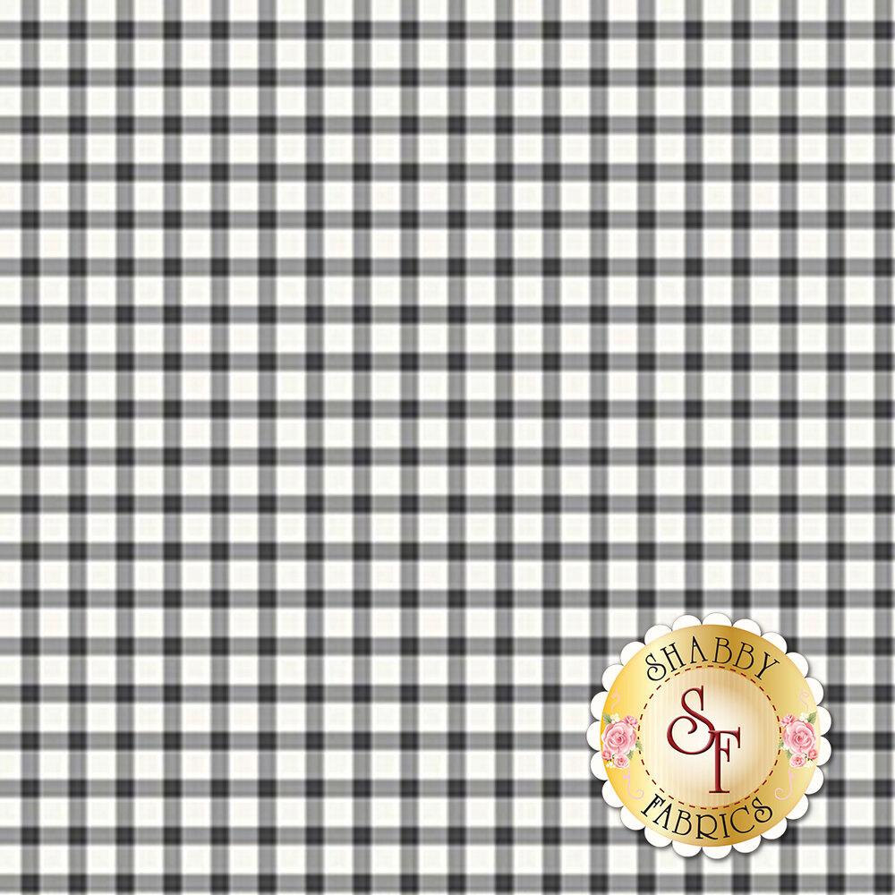 White and black checkered fabric | Shabby Fabrics