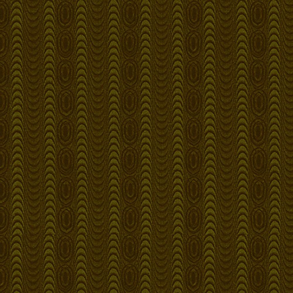 Tonal green wavy stripes with swirls