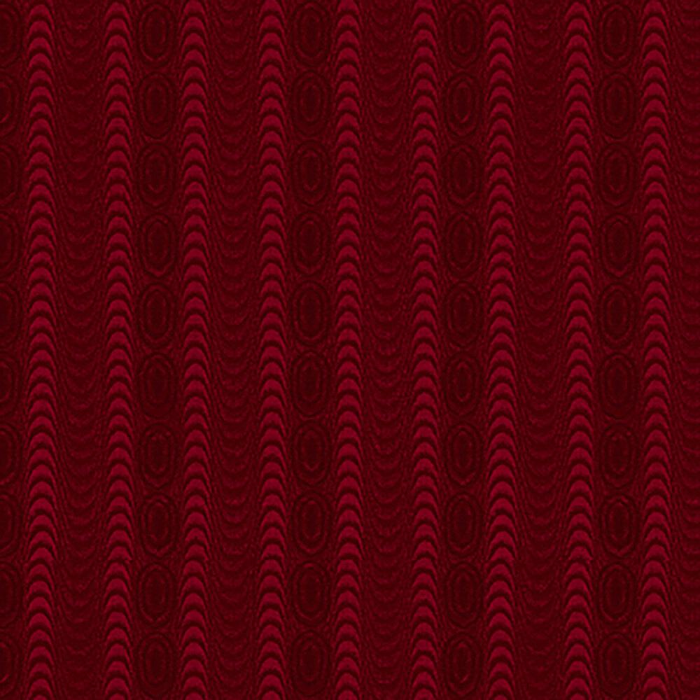 Tonal red wavy stripes with swirls