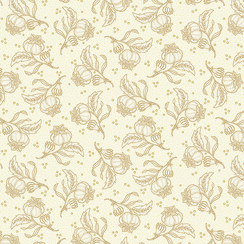Cream fabric with tonal pomegranates all over