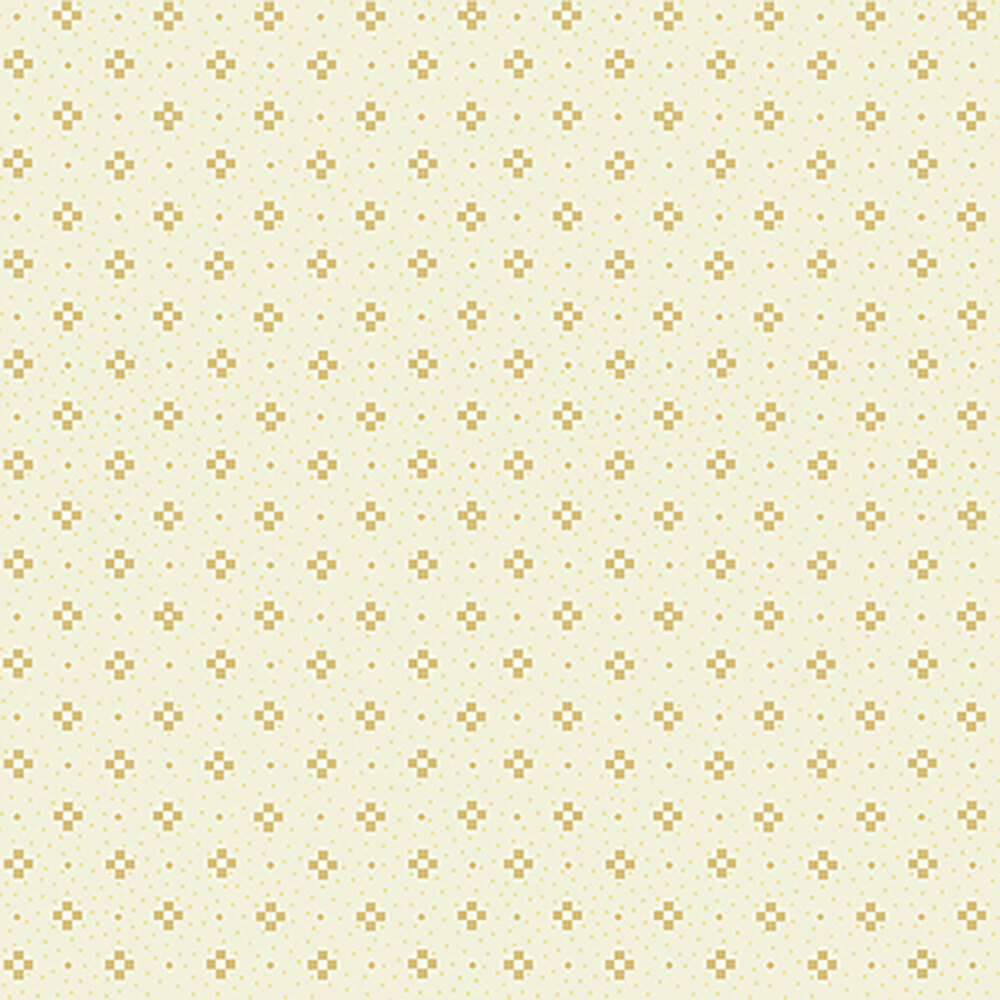 Light tan nine patch patterns all over a cream background
