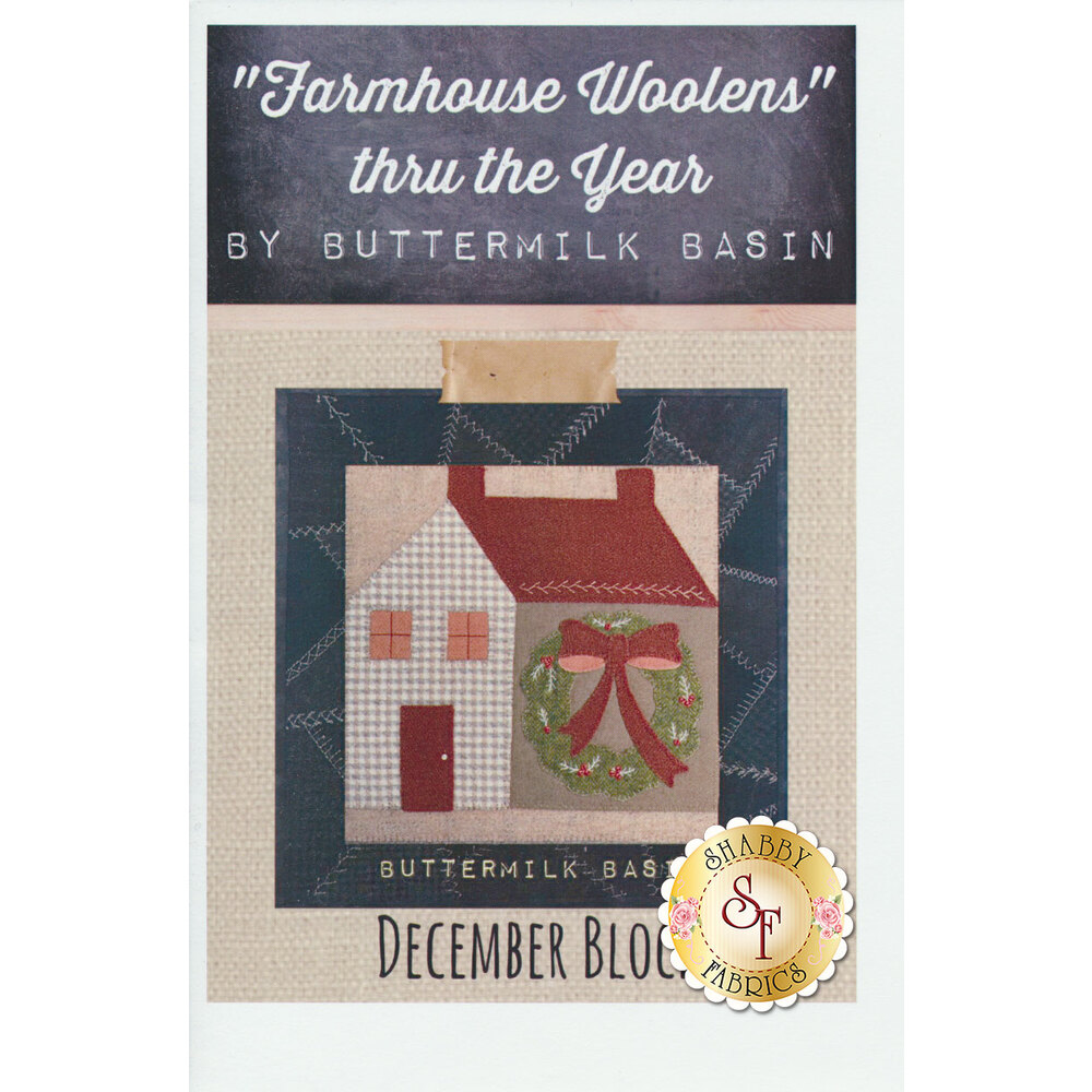 Farmhouse Woolen Thru The Year December Pattern available at Shabby Fabrics