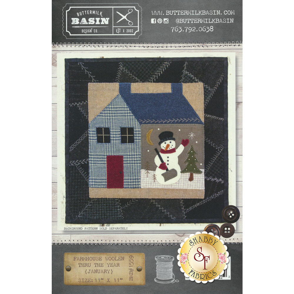 Farmhouse Woolen Thru The Year - January Pattern