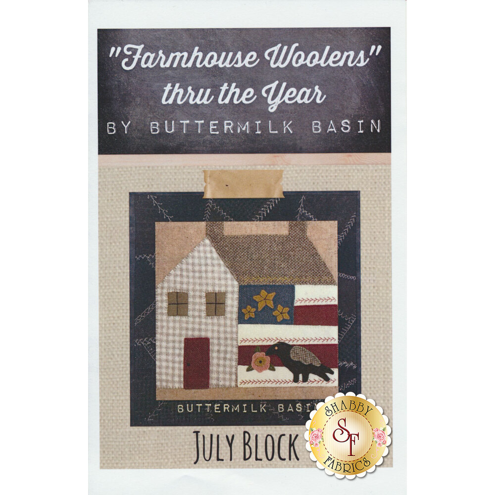 Farmhouse Woolen Thru The Year July Pattern available at Shabby Fabrics