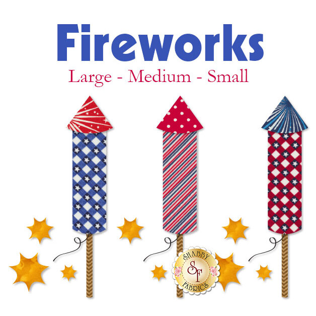 Laser-Cut Fireworks - 3 Sizes Available!