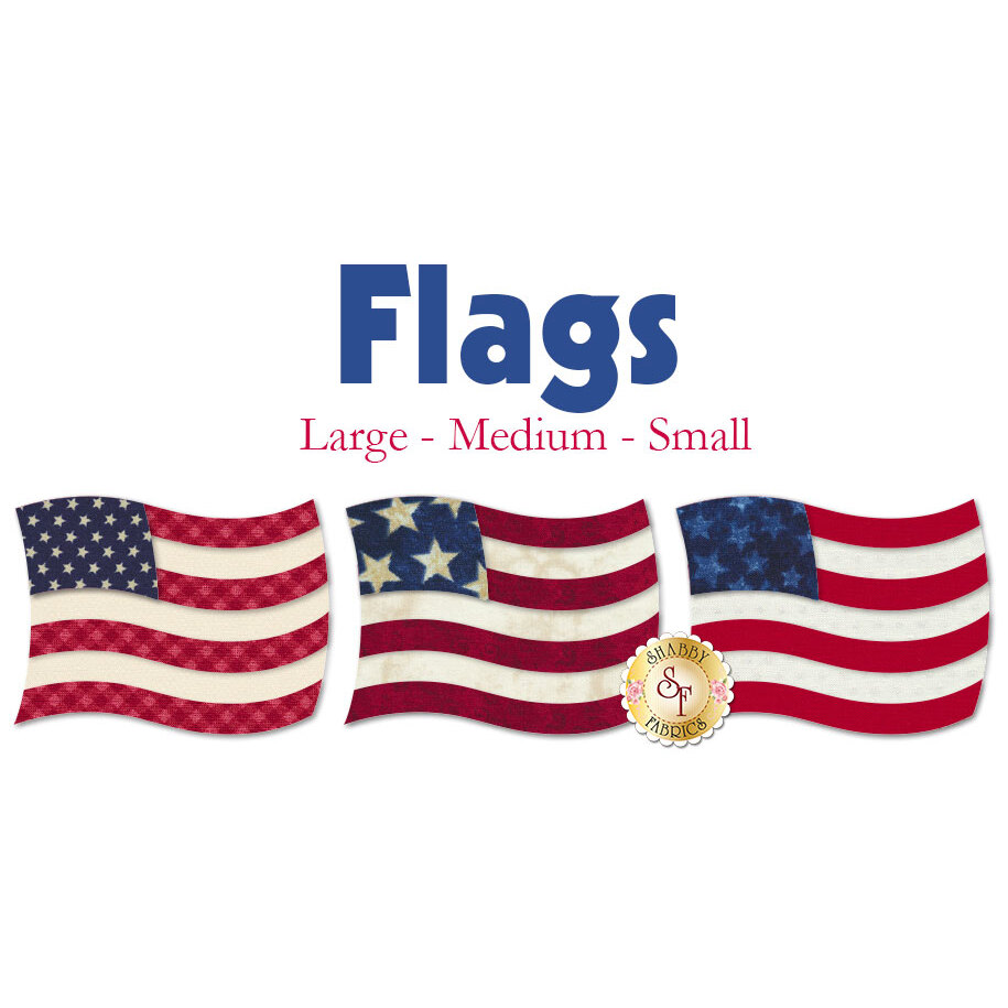 Laser-Cut Flags - 3 Sizes Available!