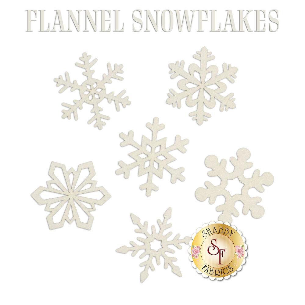 Laser-Cut Flannel Snowflakes Set