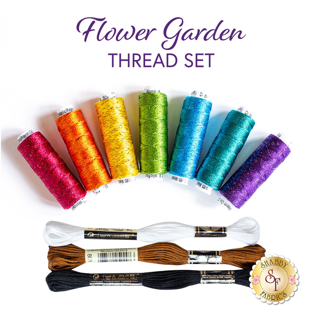 Flower Garden Thread Set - 10pc