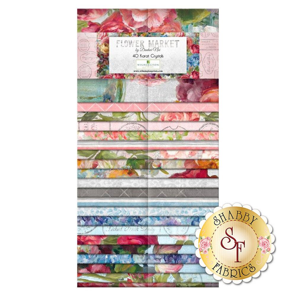 "Flower Market  2-1/2"" Strips | Shabby Fabrics"
