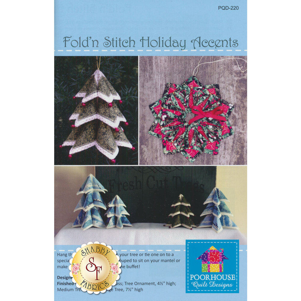 Fold'n Stitch Holiday Accents Pattern available at Shabby Fabrics