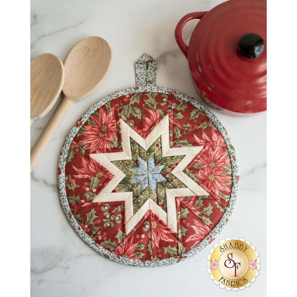 Folded Star Hot Pad Kit - Marches de Noel - Red