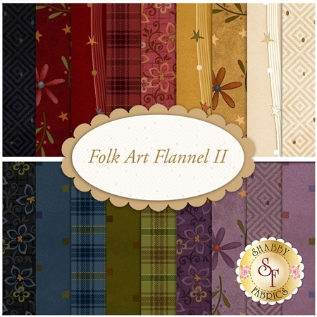 Folk Art Flannel II  Yardage by Henry Glass Fabrics