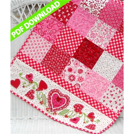 For My Valentine Table Runner Pattern PDF Download