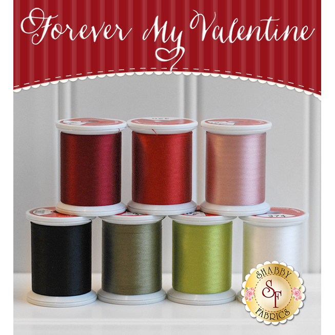 Forever My Valentine BOM - 7pc Kimono Silk Thread Set