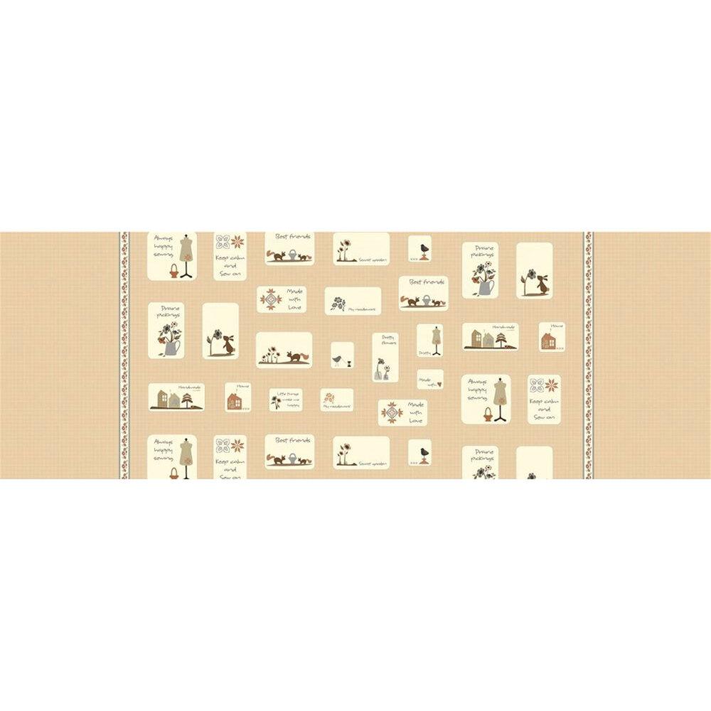 Gift tag panel | Shabby Fabrics