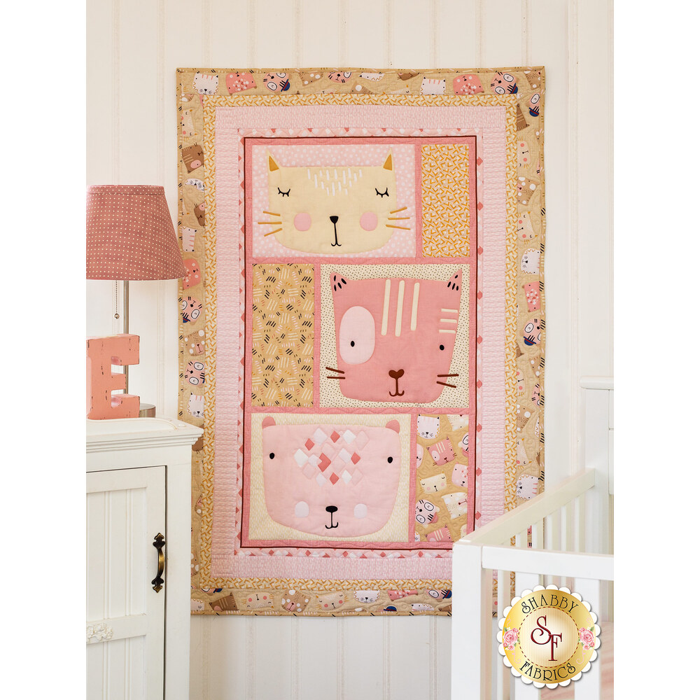 Friendly Faces Pink Quilt Kit