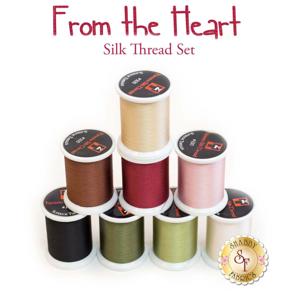 From the Heart BOM - 8pc Silk Thread Set