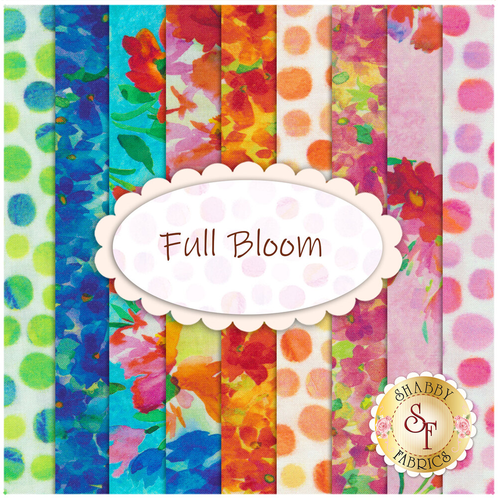 Full Bloom Yardage by Quilting Treasures Fabrics available at Shabby Fabrics