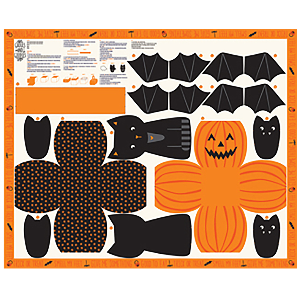Panel featuring Halloween decorations | Shabby Fabrics