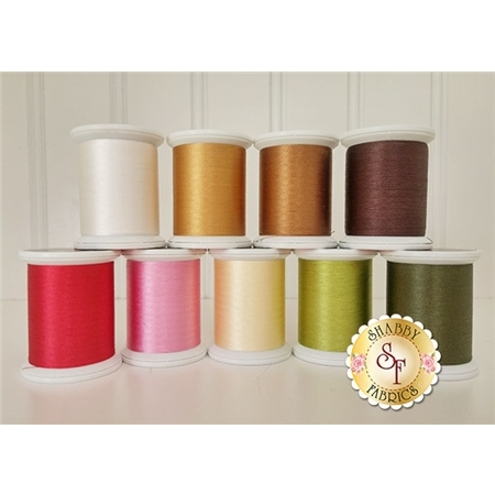 Gingerbread Village - 9 pc Silk Thread Kit - Hand Applique