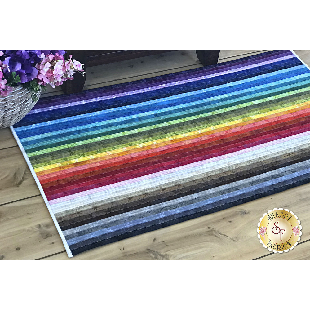 Jelly Roll Rug 2 Kit - Grunge Seeing Stars available at Shabby Fabrics