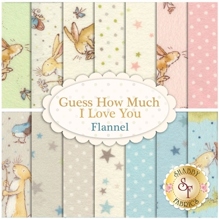 Guess How Much I Love You Flannel  Yardage by Clothworks Fabrics