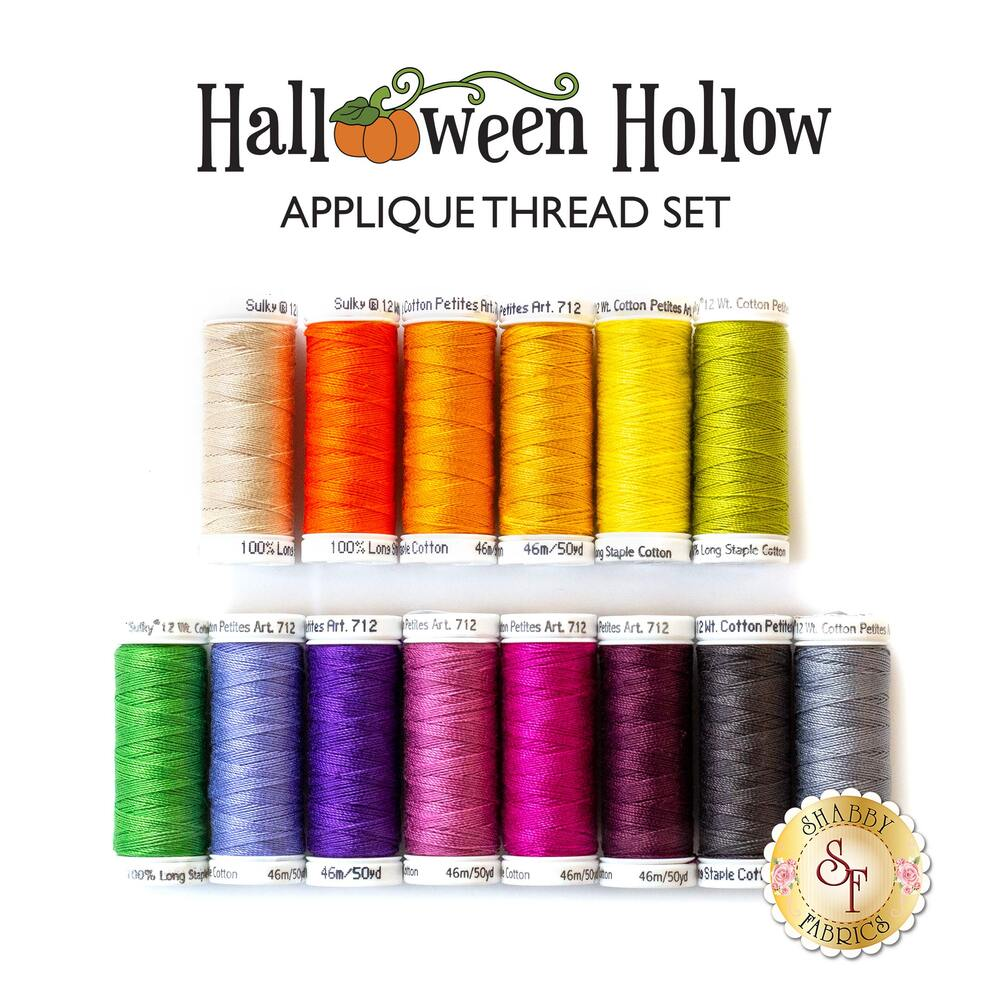 Halloween Hollow Table Runner - 14 pc Appliqué Thread Set