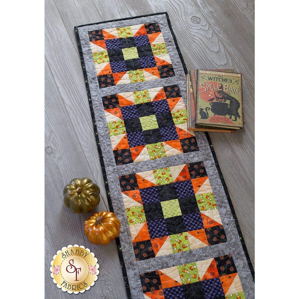 Sister's Choice Table Runner Pre-Cut Kit - Halloweenie | Shabby Fabrics